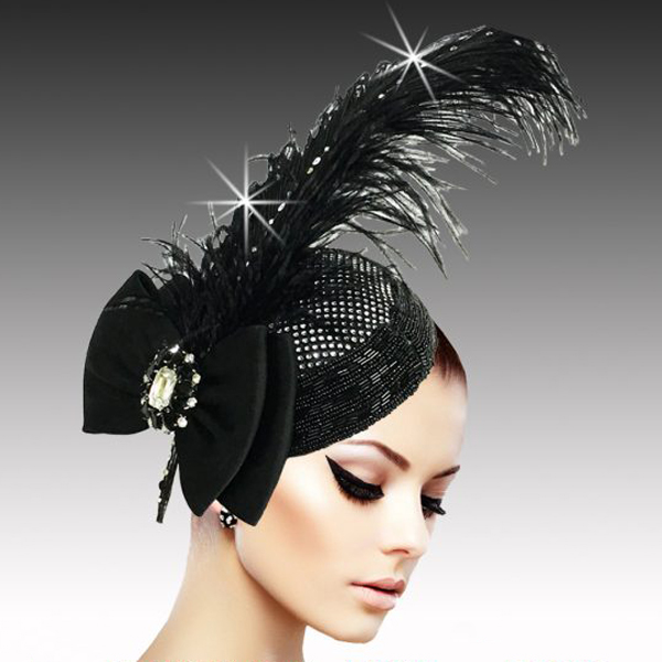 FA2507 VIRGIL-B ( Regal Ostrich Plume Headband Fascinator )