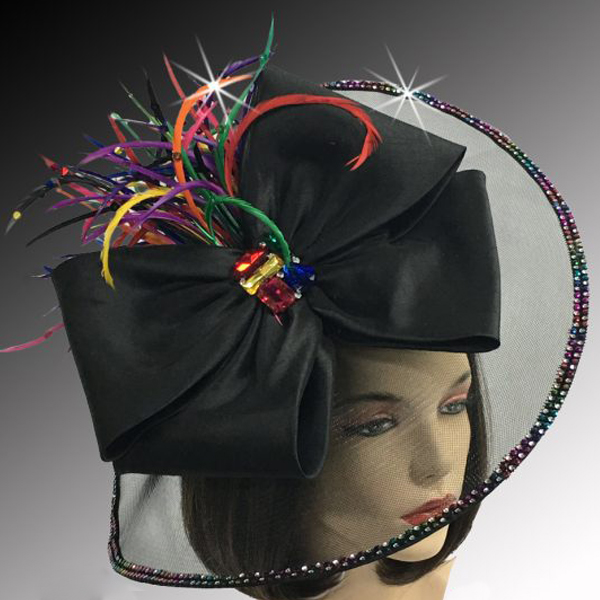 FA2510 JEWEL BOX-BM ( Illusion Fascinator With Jewel Brooch )