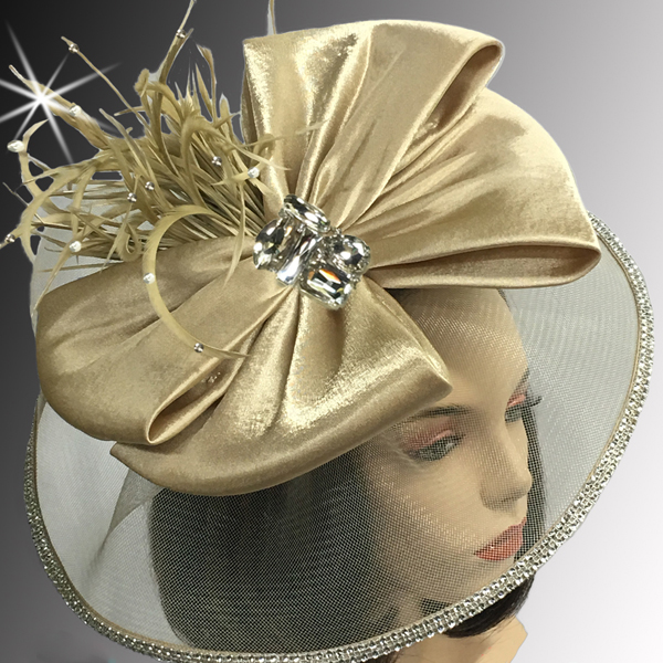 FA2510 JEWEL BOX-G ( Illusion Fascinator With Jewel Brooch )
