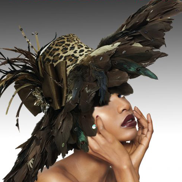 2511 KENYA-L ( Dramatic Feather Brim  Hat )