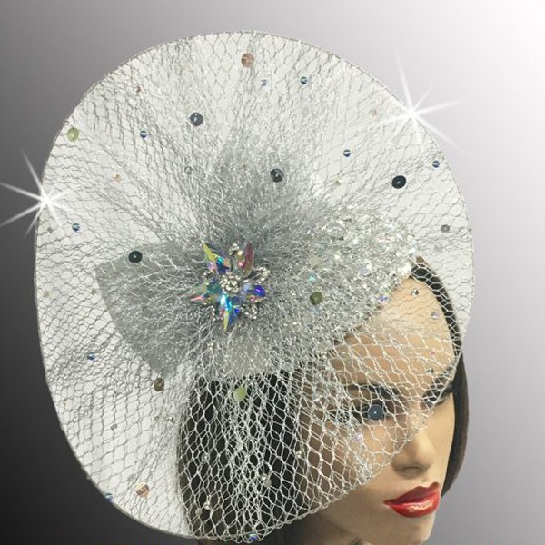 FA2513 BILLIE-S ( Metallic Mesh Pinwheel Jewel Fascinator )