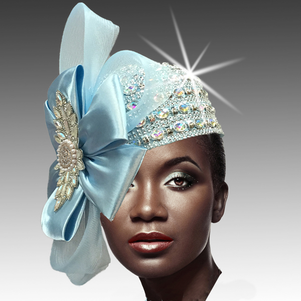 2188 ADORA-BL ( Jewel Encrusted Flapper Hat )