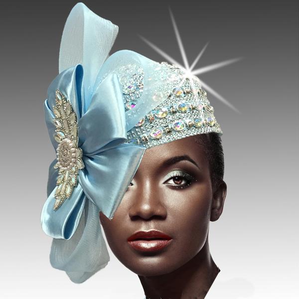 2188 ADORA-BL ( Jewel Encrusted Flapper Hat )
