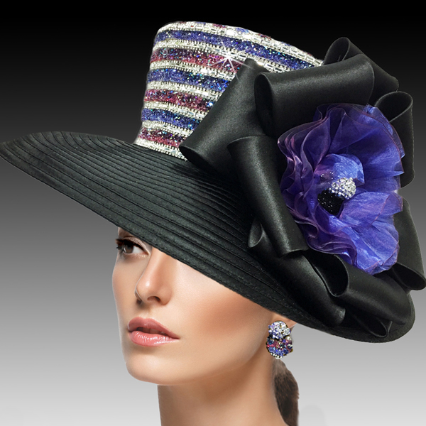 2515 ELLA-BB ( Crystal and Diamond Dust Classic Large Brim )