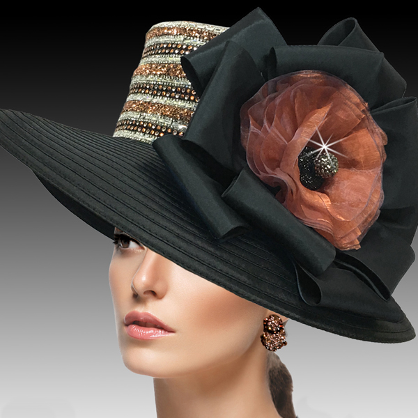 2515 ELLA-BC ( Crystal and Diamond Dust Classic Large Brim )