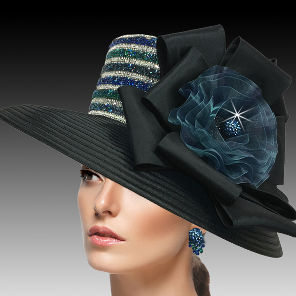 2515 ELLA-BO ( Crystal and Diamond Dust Classic Large Brim )