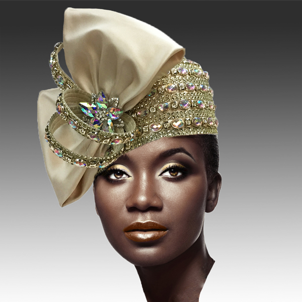 2188 ADORA-CH ( Jewel Encrusted Flapper Hat )