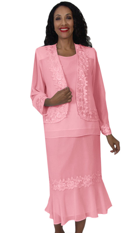 HD Couture 5101-PI ( 3Pc Fully Lined Georgette Suit With Embellished Jacket And Elastic Waistband )