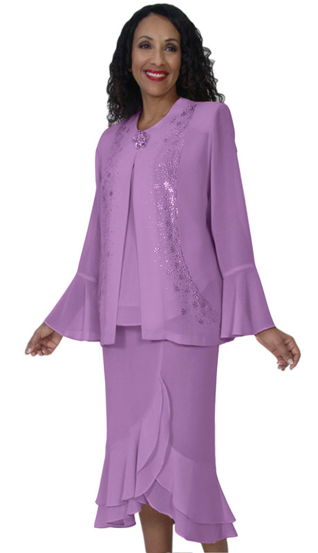 HD Couture 5129-LI-CO ( 3Pc Fully Lined Georgette Suit With Embellished Jacket And Elastic Waistband )