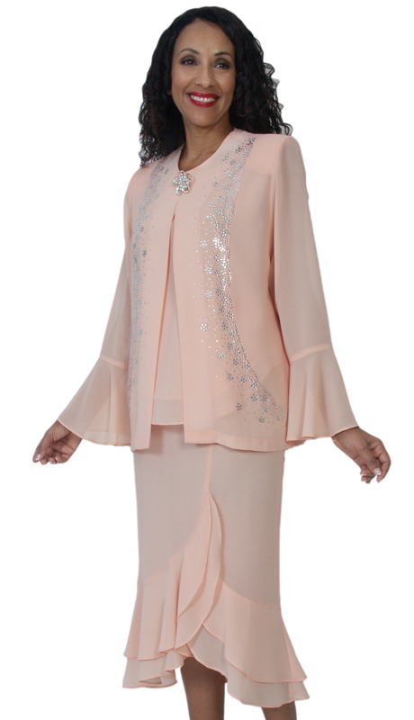 HD Couture 5129 ( 3Pc Fully Lined Georgette Suit With Embellished Jacket And Elastic Waistband )