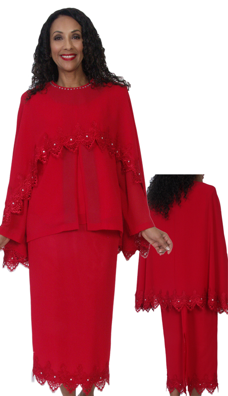 HD Couture 5087 ( 3pc Fully Lined Georgette Suit With Embellished Cape And Elastic Waistband )