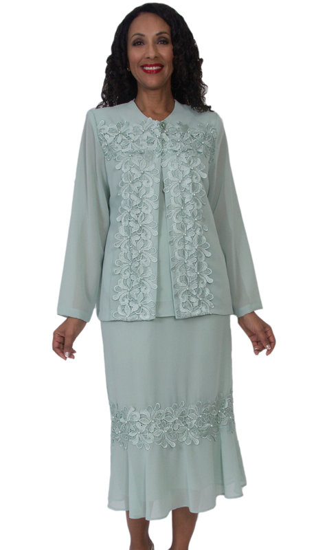 HD Couture 5090 ( 2pc Georgette Suit With Lace Trim, Embellished Jacket And Elastic Waistband )