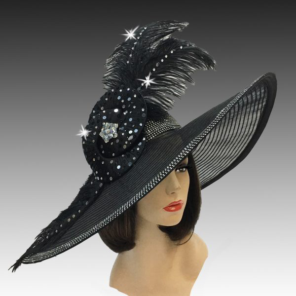 2324 Mae-BK ( Dramatic Illusion Brim Showstopper )