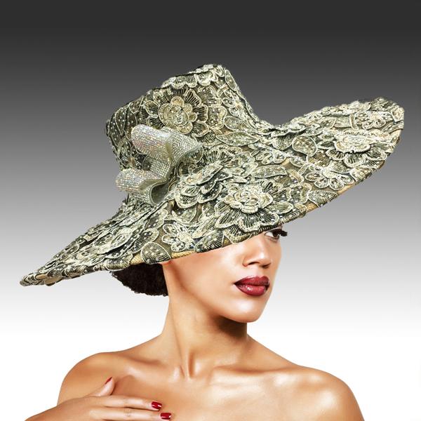 2316 Cardinal-TA ( Magnificent Lace Platter Brim Hat )