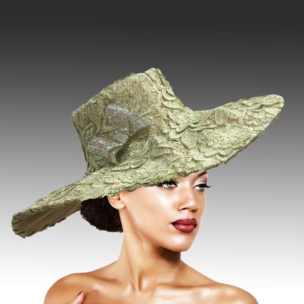2316 Cardinal-GO ( Magnificent Lace Platter Brim Hat )