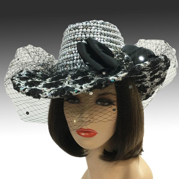 2315 Bella-BS ( Embellished Crown Hat With Veil )