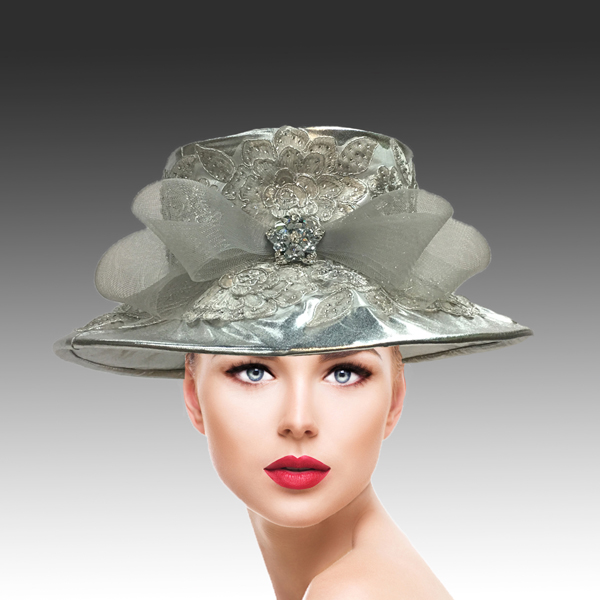 2310 Lidia-SI ( Lame Hat With Jewel Lace )