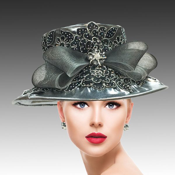 2310 Lidia-GM ( Lame Hat With Jewel Lace )