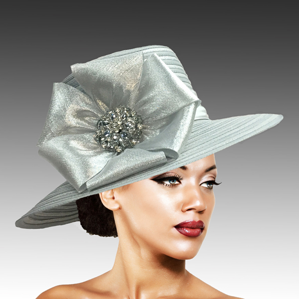 2309 Taylor-SI ( Large Picture Brim With Luxurious Bow And Brooch )