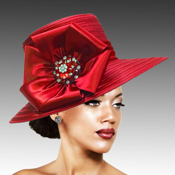 2309 Taylor-RE ( Large Picture Brim With Luxurious Bow And Brooch )