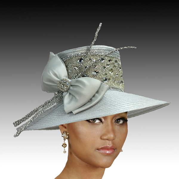 2306 Comet-SI ( Medium Brim With Crystal Encrusted Band And Quills )