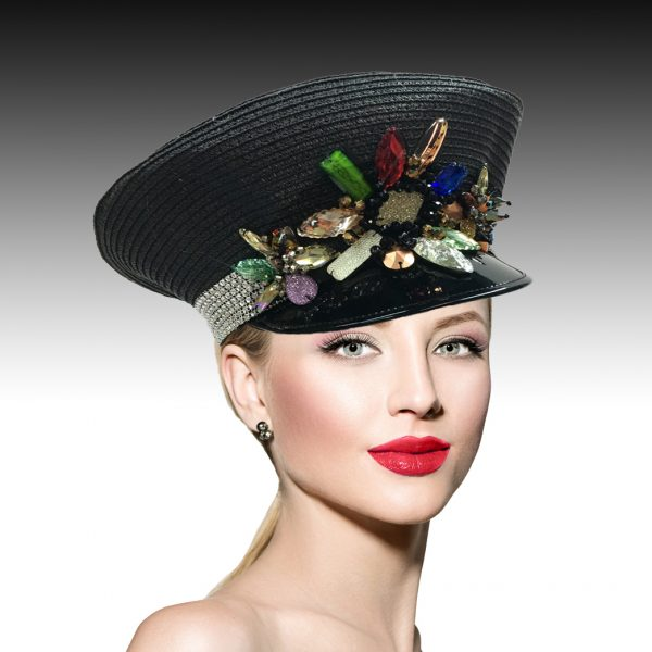 2092 Pigalle Captain's Cap-BM ( Jazzy Cap With Multi Jewels )