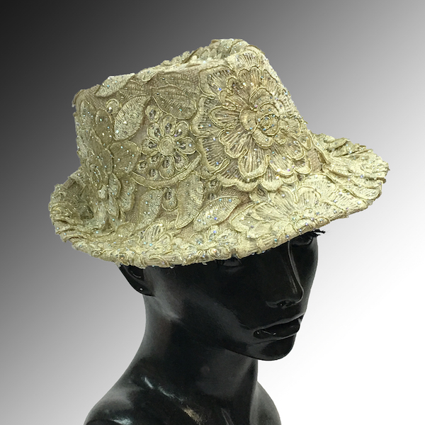 2139 Bestia-CH ( Small Fedora Covered In Embroidery )