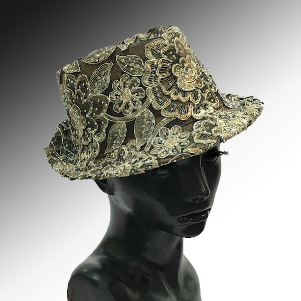 2139 Bestia-CL ( Small Fedora Covered In Embroidery )