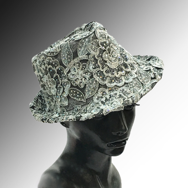 2139 Bestia-GM ( Small Fedora Covered In Embroidery )