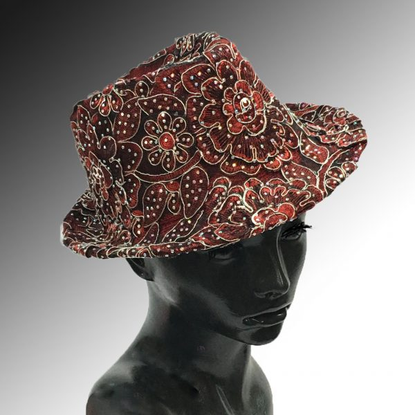 2139 Bestia-RU ( Small Fedora Covered In Embroidery )