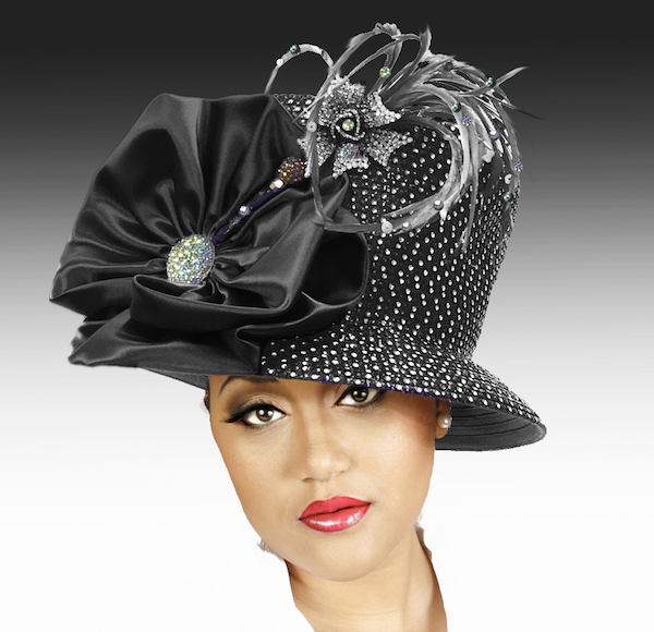 2150 Jerra-BK ( Crystal Bucket With Jeweled Hat Pin )