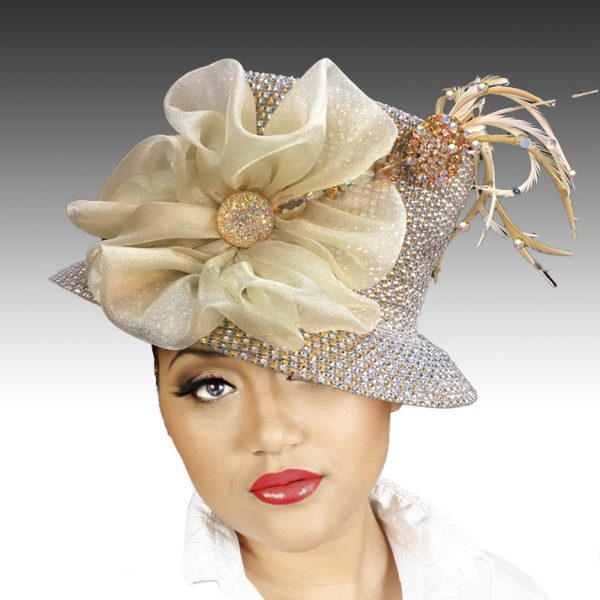 2150 Jerra-CH ( Crystal Bucket With Jeweled Hat Pin )