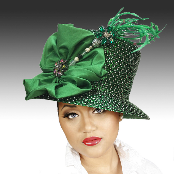 2150 Jerra-EG ( Crystal Bucket With Jeweled Hat Pin )