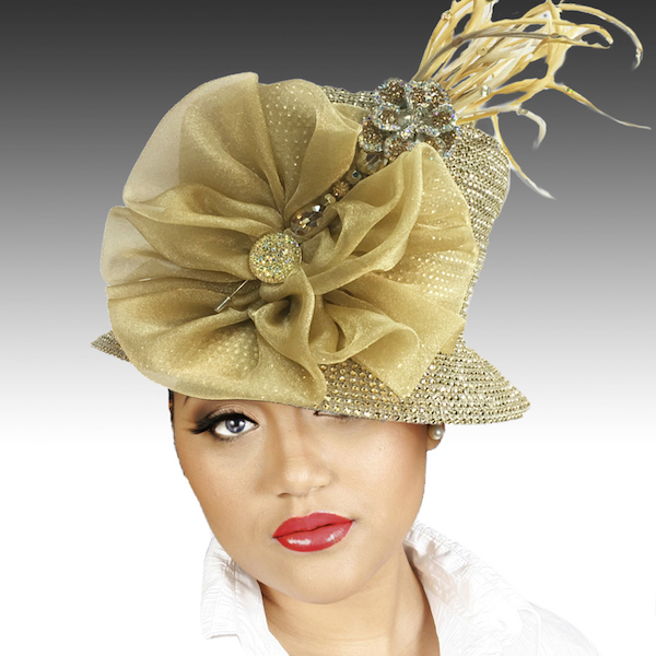 2150 Jerra-GO ( Crystal Bucket With Jeweled Hat Pin )