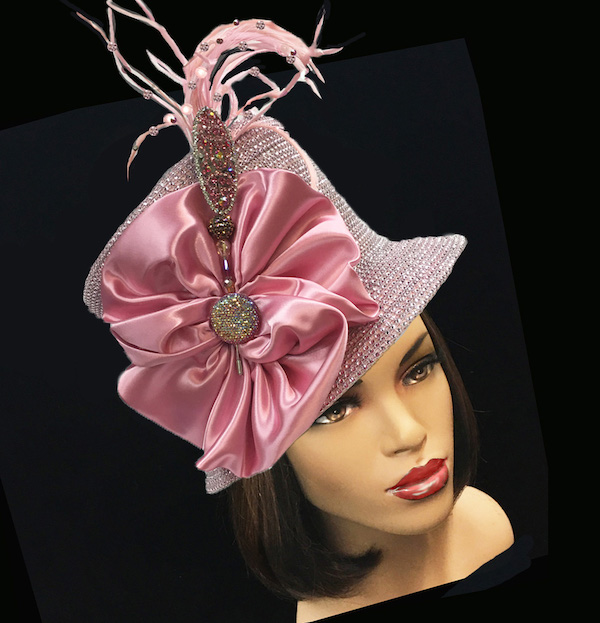 2150 Jerra-PI ( Crystal Bucket With Jeweled Hat Pin )
