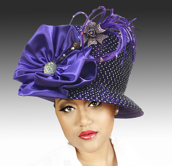 2150 Jerra-PU ( Crystal Bucket With Jeweled Hat Pin )