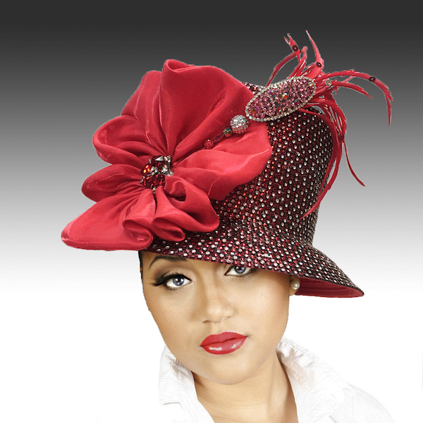 2150 Jerra-RE ( Crystal Bucket With Jeweled Hat Pin )