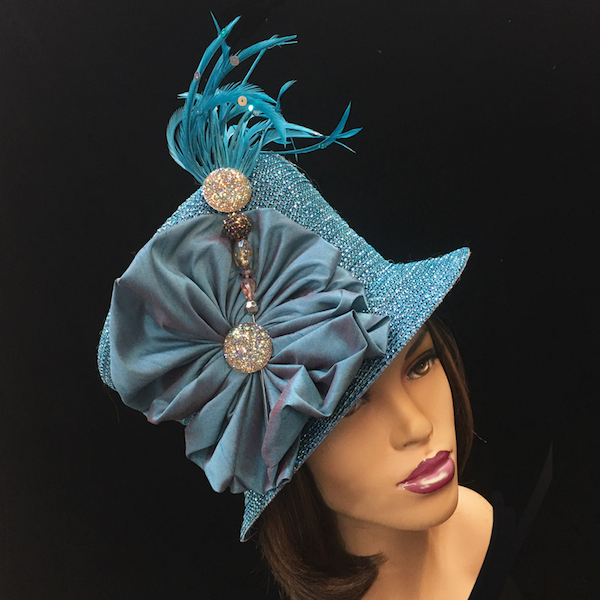 2150 Jerra-TU ( Crystal Bucket With Jeweled Hat Pin )