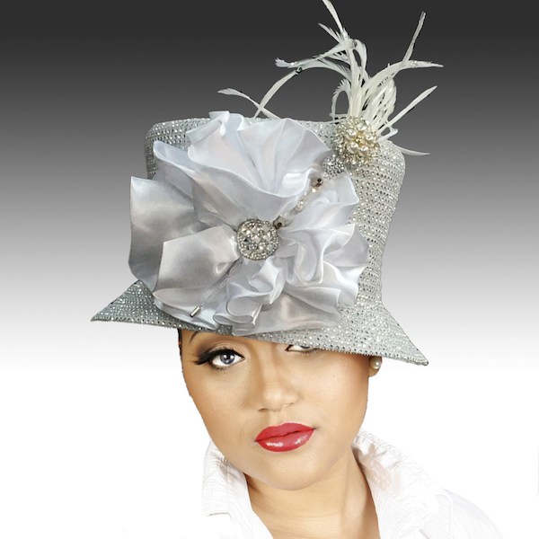 2150 Jerra-WH ( Crystal Bucket With Jeweled Hat Pin )