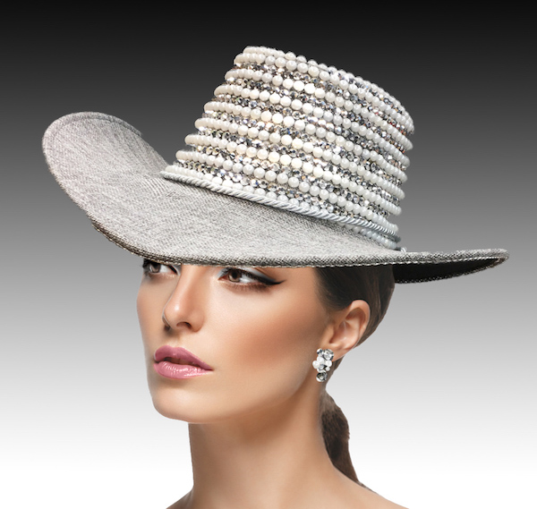 2217 Virginia-GR ( Pearl And Rhinestone Outback Hat )