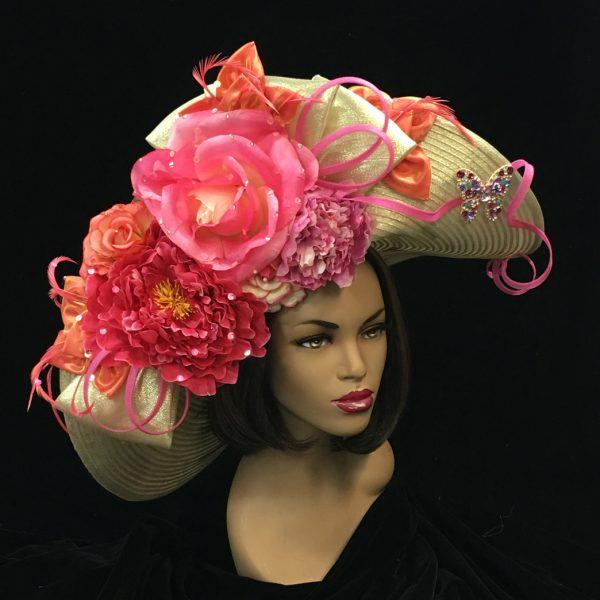 2227 Medea-GO ( Profile Brim With Floral Cornucopia )