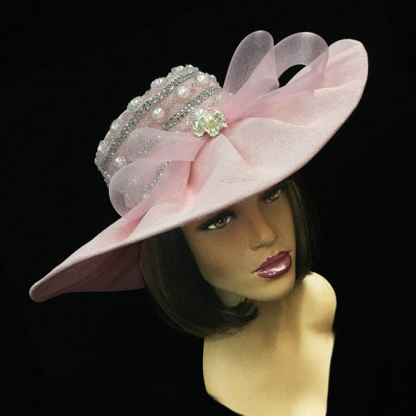 2251 Zola-PI ( Pearl Trimmed Derby Hat )