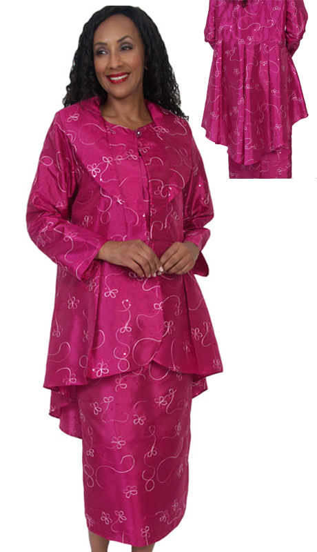 HD Couture 5061 ( 2pc Fully Lined Novelty Suit With Embellished Jacket  And Elastic Waistband )