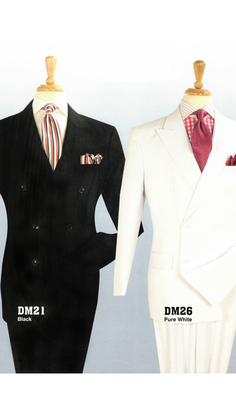 Iconic DM21 ( Classic Double Breasted Suit With Side Vents And Double Pleated Pants )