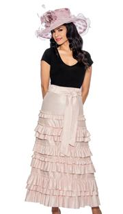 Giovanna P1011-315 ( 1pc Womens Skirt With Ruffle Layered Design, Elastic Waist )