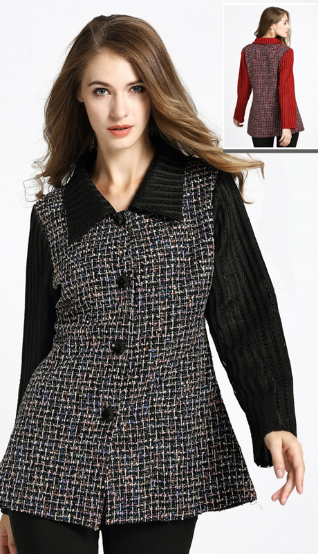 Jerry T 7183 ( 1pc Ladies Tunic Jacket )