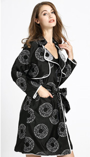 Jerry T 7184 ( 1pc Ladies Jacket With Floral Print )
