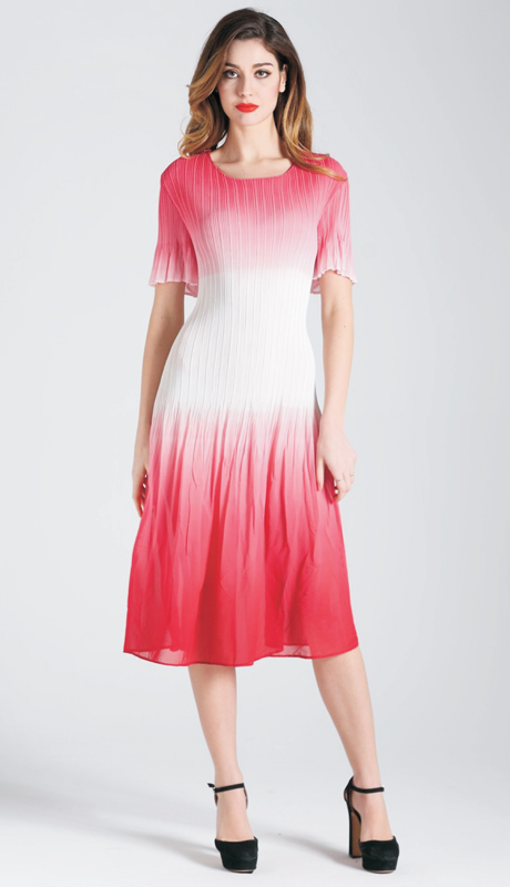 Jerry T SR 7194 ( 1pc Ladies Dress With Two Tone Fade )