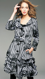 Jerry T 7129-WH  ( 1pc  Ladies Fashion  Jacket With Belt )