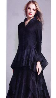 Jerry T 7151-BLK ( 2pc Ladies Dress )